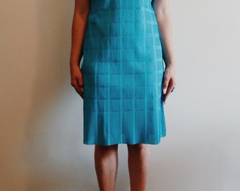 Vintage Blue Peter Pan Collar Dress