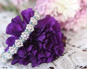 Soft Pink and Blue Forget me Knot Bracelet ~ Macrame Jewelry ~ Flowers
