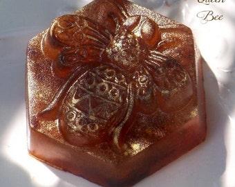 """Lori's QUEEN BEE """"Artisan Alchemist""""™ Golden Shimmer Conjure Soap Master Crafted by Witchcrafts Artisan Alchemy® w/ Honey, Myrrh & Florals"""