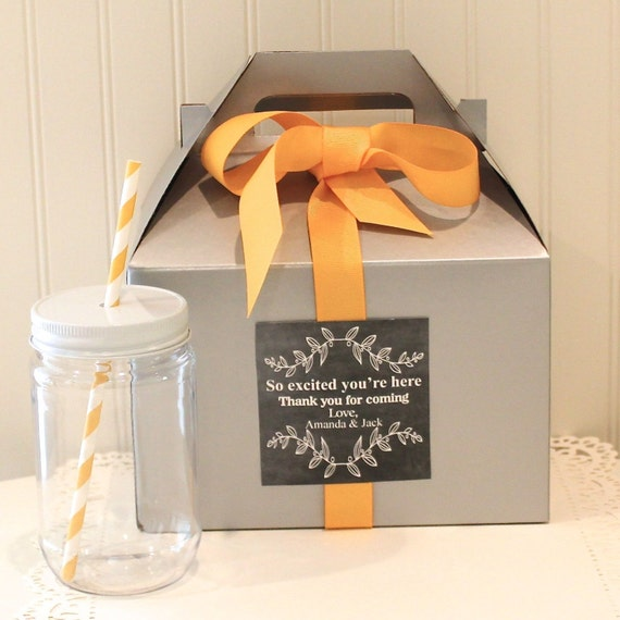 favor box 6 out of town guest box welcome box wedding welcome box