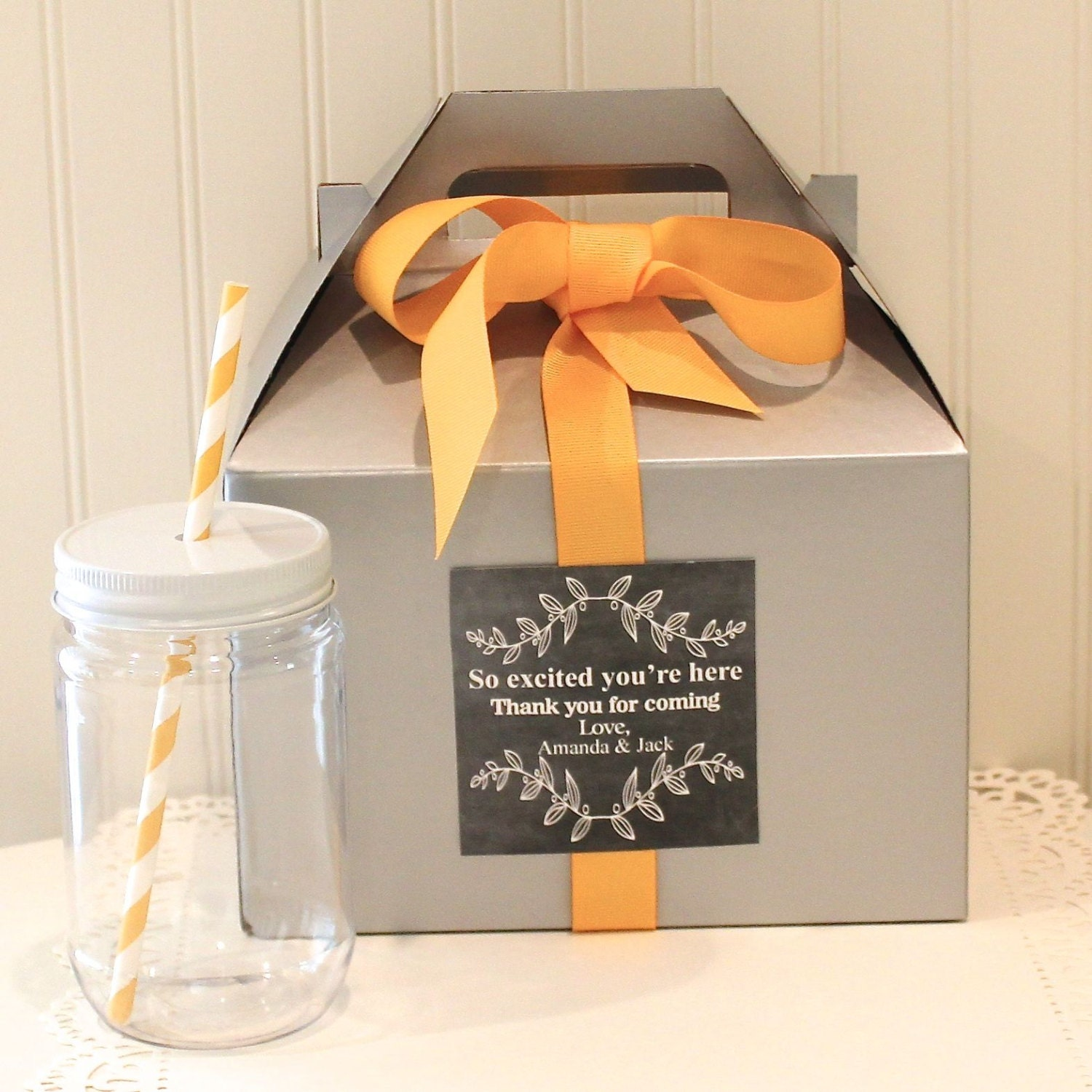 favor box 6 out of town guest box welcome box wedding