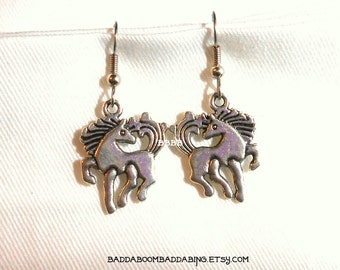 Horse Earrings - Surgical Steel French Hooks