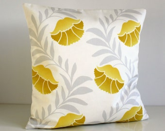 Throw Pillow Cover, Pillow Sham, 18 Inch Pillow Cover, Cushion Cover, 18x18 Pillowcase, Accent Pillow Cover, Sofa Pillows - Tulip Sunshine