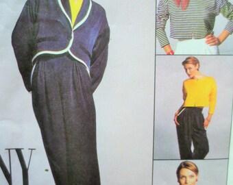 McCall's 8095 Sewing Pattern,1990s Sewing Pattern, Jacket Pattern, Pants Pattern, Bust 31.5, Waist 24, Top Pattern, Breton Top, Cropped Top