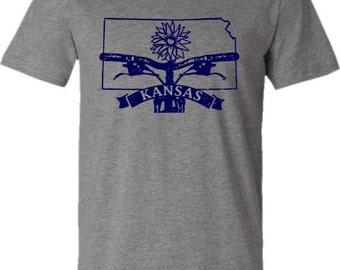 Mountain Bike T-shirt-BIKE KANSAS-Bicycle T-shirt,Grey-Kansas State,Purple-College gift,bike gift,gifts for cyclists,graduation gift