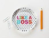 Office Supplies for Girls Like a Boss Paperweight Dorm Decor New Job Gift Desk Accessories Personalized Gift Custom Paper Weight Polka Dot