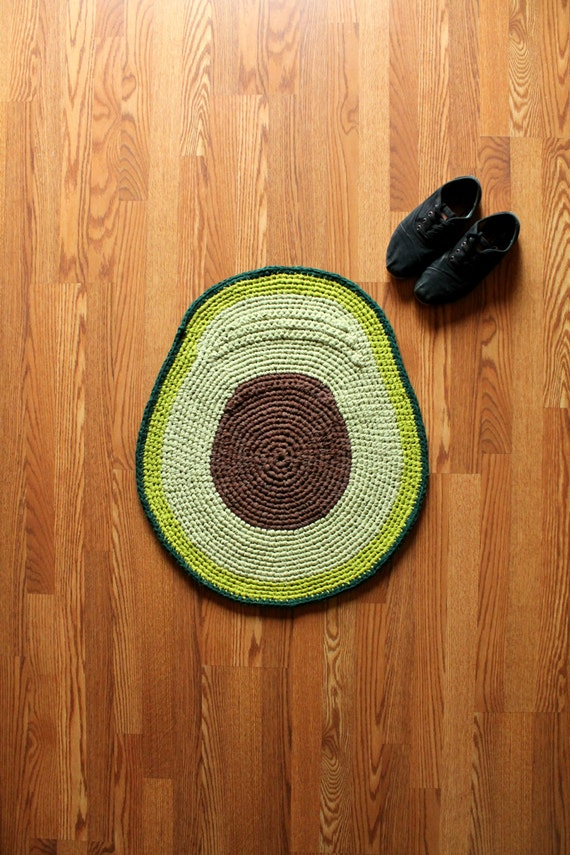 Handmade Avocado Rug Ready To Ship