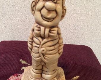 Vintage 70's Paula Carved Figurine I Love You Dad dated 1971