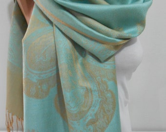 Pashmina Scarf Grayed Jade Oversized Scarf Shawl Fall Winter Scarf Cowl Scarf Christmas Gift For Her Mothers Day From Daughter Son For Mom