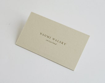 150 Double Sided Custom Letterpress Business Cards