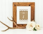 Burlap Table Numbers: Wedding DIY Printable Instant Download 4x6 / Table Numbers 1-25 & Bonus