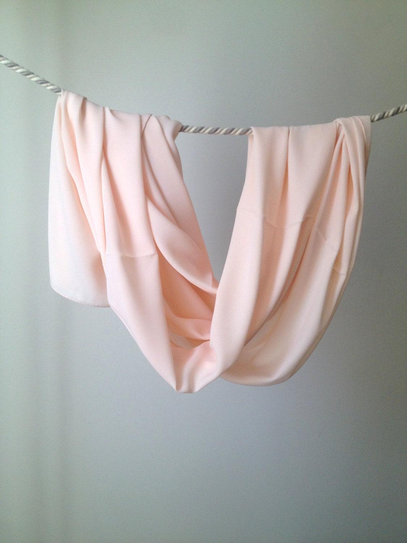 blush shawl peach pink scarf nude sheer wrap wedding