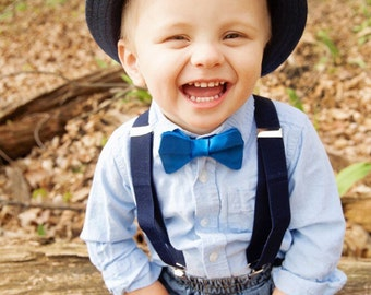 Blue Baby Bow Tie, Baby Boy Bow Tie,Infant Bow Tie,Infant Bow Ties, Toddler Bow Ties, Baby Bow, Baby Bows
