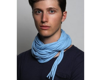 Light Blue Scarf, Gifts For Him, Gift for Men, Boyfriend Gift, Husband Gift, For Him, Boyfriend, Gift ideas, Mens Gift, Gift for Boyfriend