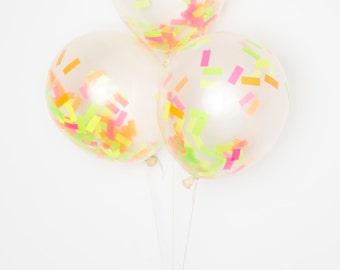 "Confetti Balloons / 11"" Neon DIY Set of 12"