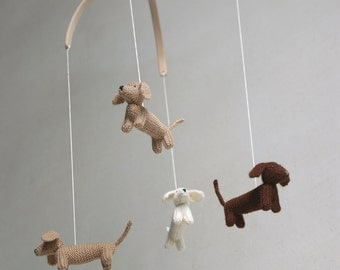 baby mobile / DACHSHUND mobile / dog mobile / puppy mobile