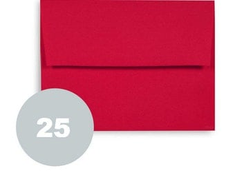 A2 red envelopes. Christmas Fine stationery 25 ct paper envelopes for wedding stationery invitations with gummed square flap