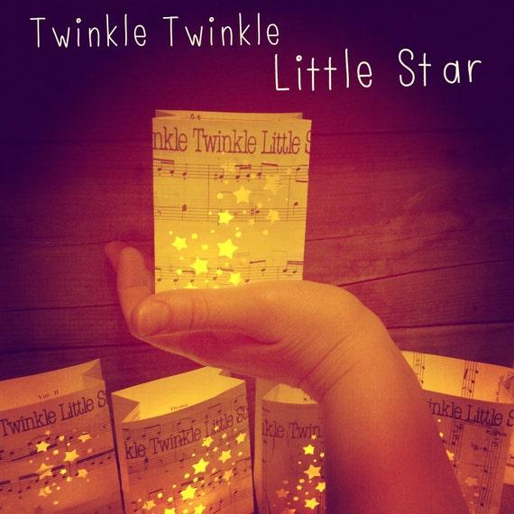 Twinkle Twinkle Little Star Free Sheet Music For Piano: Twinkle Twinkle Little Star Mini Luminaria Sheet By