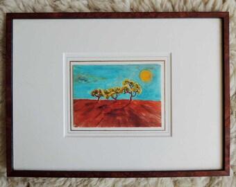 Original Watercolor Painting Landscape