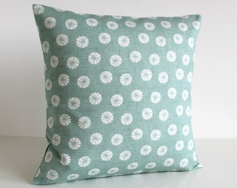 Decorative Pillow Cover, Cushion Cover, Pillow Case, Throw Pillow cover, Pillow Sham, Couch Pillows, Toss Pillow - Fossil Aqua