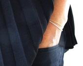 15% off sale - layered sterling silver bracelet, silver and gold bracelet, silver and gold bracelet, multi layer bracelet, chain bracelet