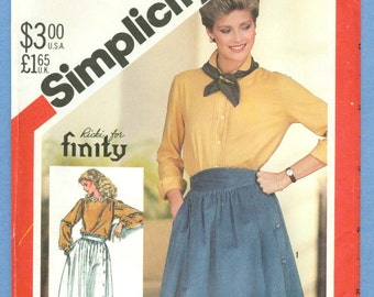 1982 Misses' Gathered Side Button Skirts Size 8 - Vintage Simplicity Sewing Pattern 5576