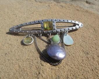 Vintage Dangle Brooch Pendant Pin