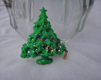 Vintage Christmas Tree Pendant Pin Brooch Ugly Christmas Sweater Pin