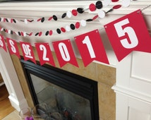 Choose Your Colors - Custom Class of 2016 Banner & Garland Set    Grad Party Decorations    Graduation Party    Bunting