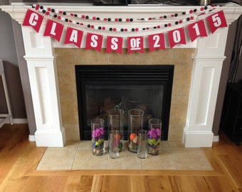 Choose Your Colors - Custom Class of 2017 Banner & Garland Set || Grad Party Decorations || Graduation Party || Bunting
