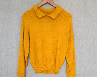 Vintage 80's knitted sailboat sweater M/L