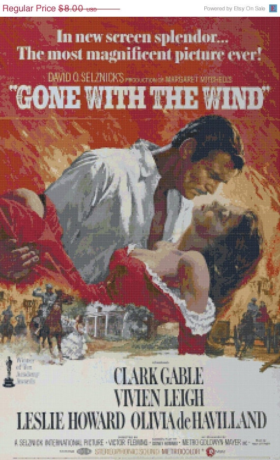On sale gone with the wind 230 x 363 stitches by borntocross - Gone with the wind download ...