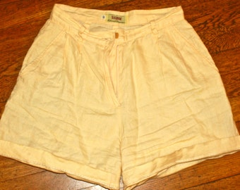 Vintage High-waisted Linen Shorts