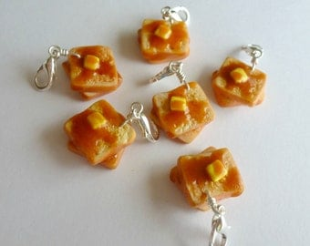 French Toast Miniature Food Jewelry Polymer Clay Charms