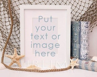 Styled Stock Photography / Empty Frame / Blank Frame / Frame Mock up / Beach styled / Styled Photo / JPEG Digital Image / StockStyle-462