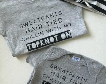 Baby TKB Topknot bands Tee shirt, babies toddler adults