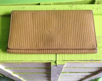 Vintage giorgio armani wallet yellow