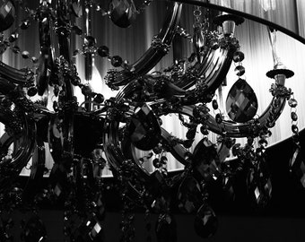 Black and White Photography, Chandelier, Magical Photography, Luxurious, Mansion, Estate, Royal, Fantasy Photography, Ballroom, Whimsical