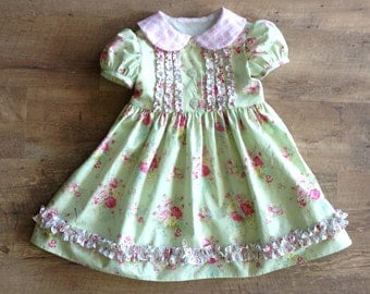 Sugarplum Dream dress PDF sewing pattern and tutorial, Sizes 3- 8 girls, instant download