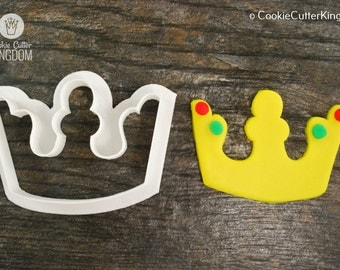 King Crown Cookie Cutter, Mini and Standard Sizes, 3D Printed