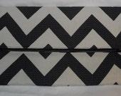 Black & White Chevron Clutch