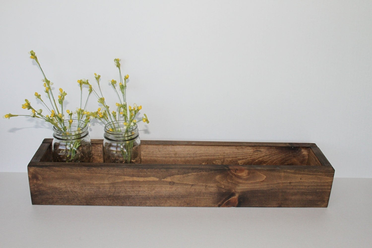 Wood flower box rustic planter