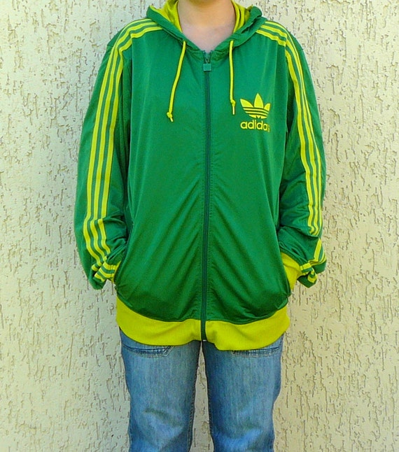 mens vintage ann es 80 adidas old school football veste zip. Black Bedroom Furniture Sets. Home Design Ideas