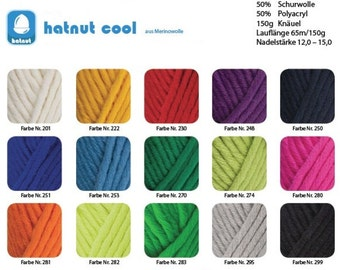 150g wool: hatnut cool, choose color free