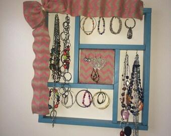 Refurbished shelf jewelry holder