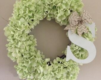 handcrafted monogram door wreath!