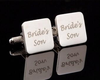 Bride's Son Laser Wedding Cufflinks