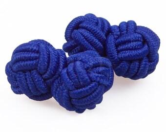 Knot Royal Blue Cufflinks