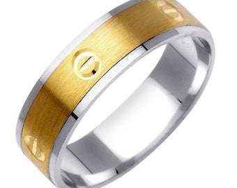 Carved Design Wedding Ring