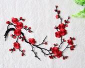 Plum Flower Applique,Lace Embroidery Applique,Adhesive Headpiece Applique,For DIY Dress,For Fashion,Bridal Hair Accessories 83-2